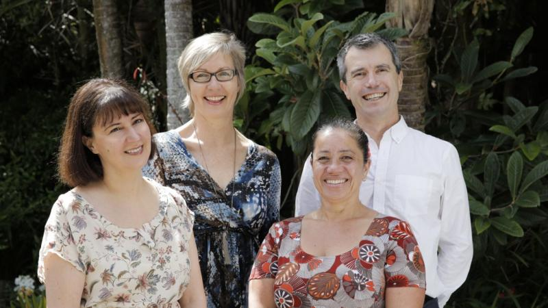 (pictured from left Alessandra, Belinda, Carolyn and Peter)