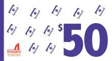 $50 book token
