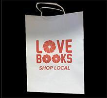 love books shop local bags