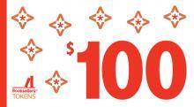 $100 token