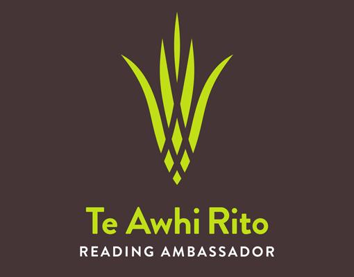 Te Awhi Rito Reading Ambassador logo